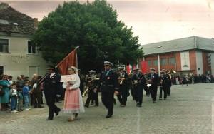 Smotra vatrogasnih glazbi u Ogulinu, između 1980.- 1990.